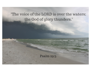The voice of the LORD is over the waters; the God of glory thunders