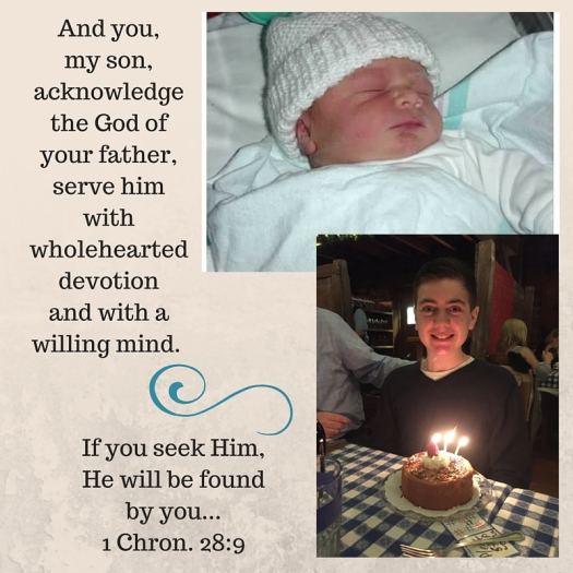 And you, my son, acknowledge the God of your father, and serve him with wholehearted devotion and with a willing mind....if you seek Him, He will be found by you (1)